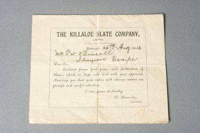 document from killaloe slate company 20129