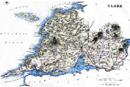 County Clare Map Clare Genealogy: Family Histories   Donated material: The Frosts