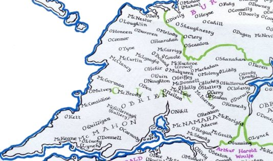 The Gaelic Septs of County Clare Map of County Clare 1300-1500