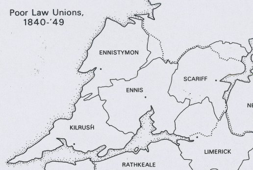 Pre-Famine Poor Law Unions in County Clare